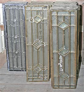 A photo of leaded glass panels.